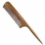 Rat Tail Comb,New Star Anti-Static Green Sandalwood Comb Fine-tooth Comb with Thin and Long Handle